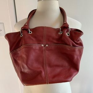 Tignanello | Red Leather Shoulder Bag